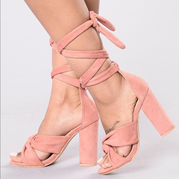 lace up small block heels